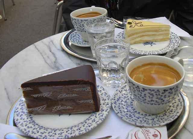 Венский кофе и Sachertorte